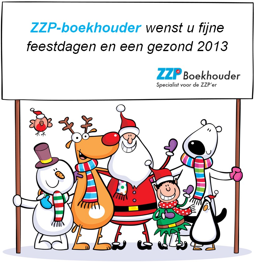 Kerst- en nieuwjaarsgroet 2013 ZZP Boekhouder